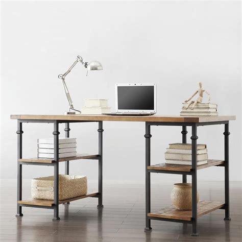 diy rustic office desk myra vintage industrial modern rustic storage desk by