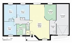 pavillon de plainpied detail du plan de pavillon de With wonderful maison rez de chaussee 2 maison conviviale detail du plan de maison conviviale