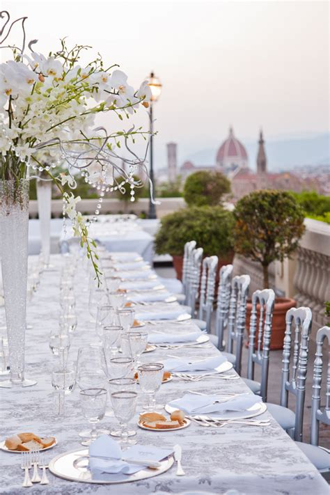 white lace crystals wedding  florence italy