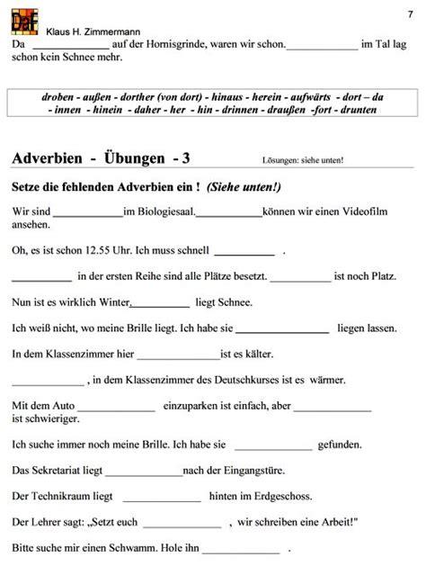 deutsch als fremdsprache daf daz grammatik adverbien