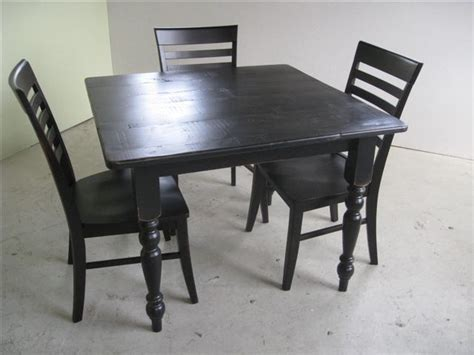 5 foot kitchen table custom made 3 foot square kitchen or dining table by
