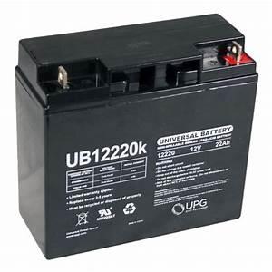 Batterie 12 Volts : sla 12220 universal 12 volt 22 ah sealed battery ub12220 ~ Farleysfitness.com Idées de Décoration