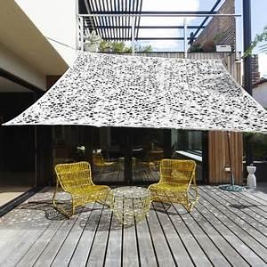 Filet Camouflage Pour Terrasse : voile d 39 ombrage carr blanc 3x3m ibiza ideanature pas cher ~ Dailycaller-alerts.com Idées de Décoration