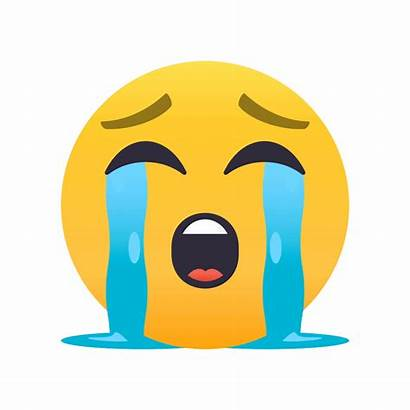 Emoji Presenting Crying Face Animations Joypixels Loudly