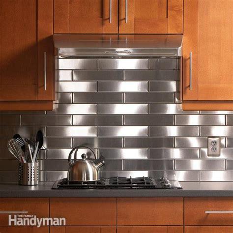 steel backsplash kitchen stainless steel kitchen backsplash the family handyman