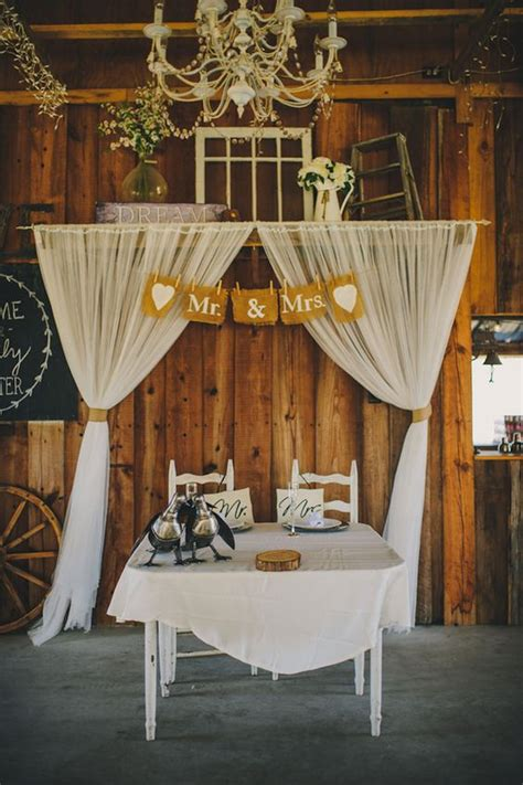 top  sweetheart table decor ideas  barn weddings
