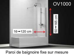 paroi de douche largeur 60 cm 60x180 60x185 60x190