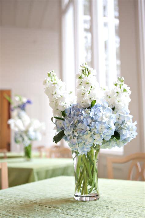 blue hydrangea centerpiece hydrangea wedding flower