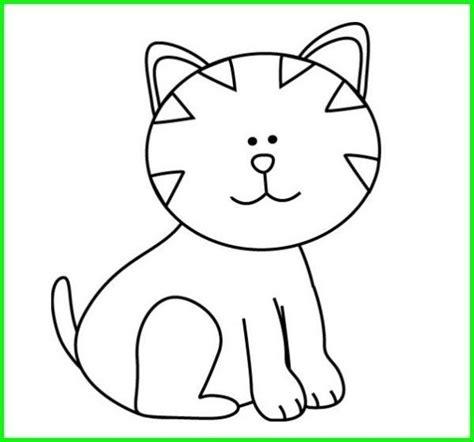 gambar mewarnai hitam putih kucing