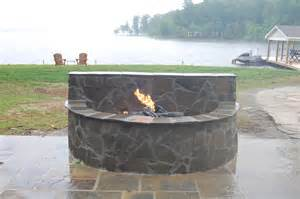 Stone Fire Pit Outdoor Fireplace