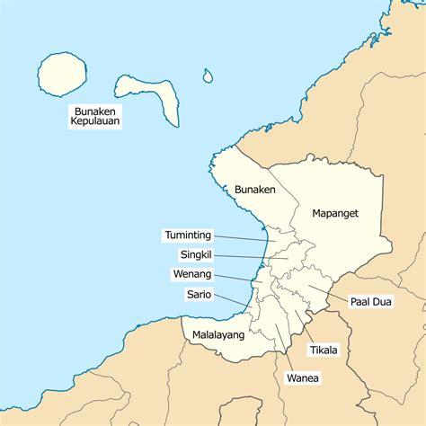 daftar kecamatan  kelurahan  kota manado wikipedia