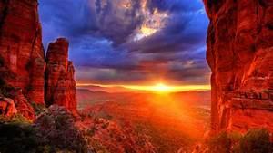 Arizona, Sunset, Red, Stones, United, States, Desktop, Hd