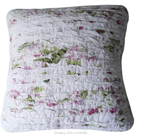 shabby chic bed throws shabby french country chic pink roses rag sofa couch throw bed quilt cushion ebay