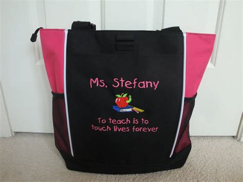 tote bag personalized teacher aide counselor apple  htscreations
