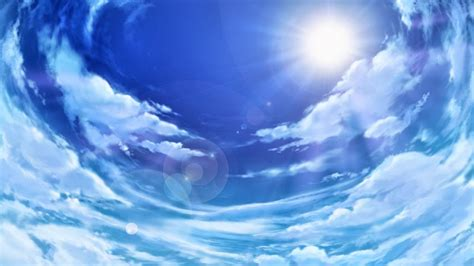 Anime Sky Wallpaper - anime landscape sky anime background