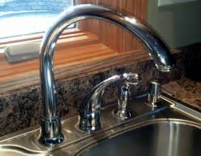 moen kitchen faucet leaking at handle how to fix leaking moen high arc kitchen faucet diy