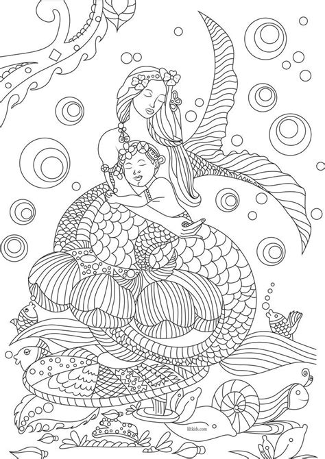 Idea by Your Wellness Guide on Coloring Pages Mermaid