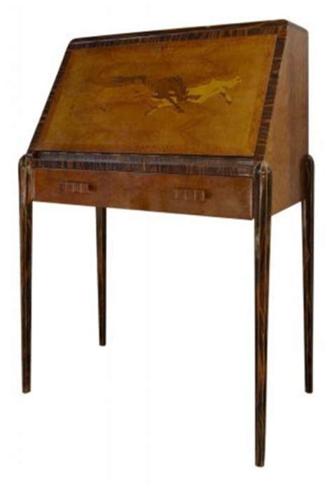 drop down secretary desk art deco drop down front secretary desk with marquetry