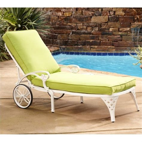 white chaise lounge chair green apple cushion 5552 831