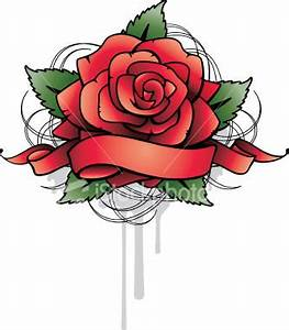 Rose tattoo with banner designs | Tattoo Collection
