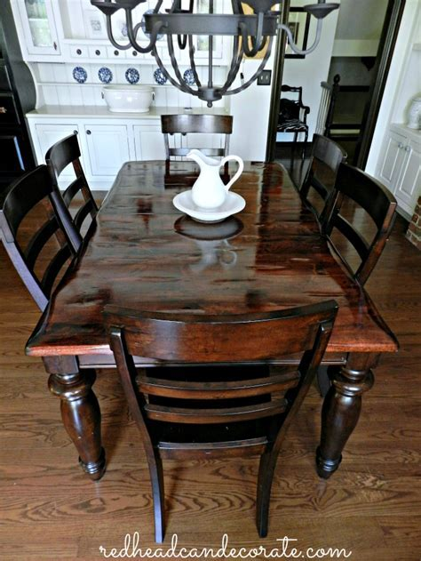 DIY Refinished Dining Table   Redhead Can Decorate
