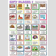 City Places Multiple Choice Activity1 Esl Worksheet Of The Day By Sylviepieddaignel March 26