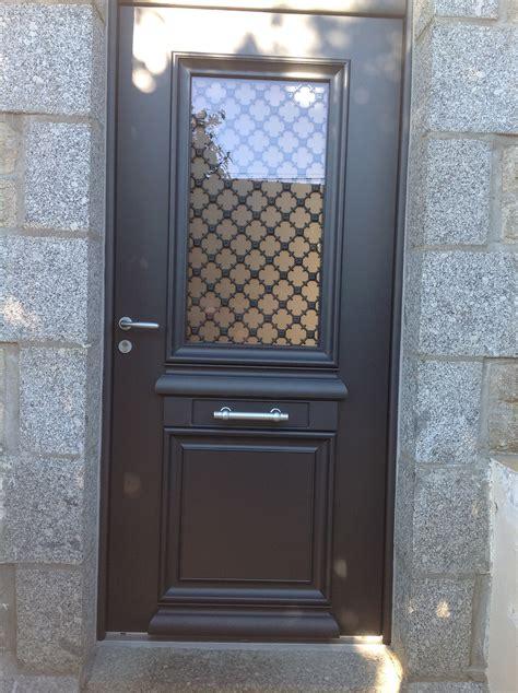 cuisine porte d entr 195 169 e alu bi couleur avec grille fer forg 195 169 pedernec porte fer forg 233 moderne