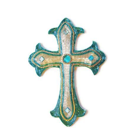 beaded mosaic cross renaissance art mosaic art religious art
