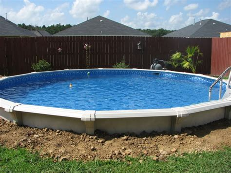 Backyard Swimming Pools Above Ground by Image Detail For Installing An Above Ground Pool In The