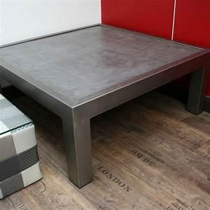 table basse beton mobilier beton table basse design With table basse design beton