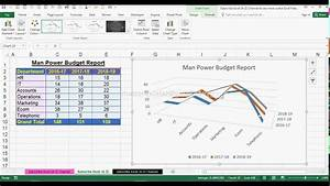 How To Create 3d Line Chart In Ms Office Excel 2016 Youtube