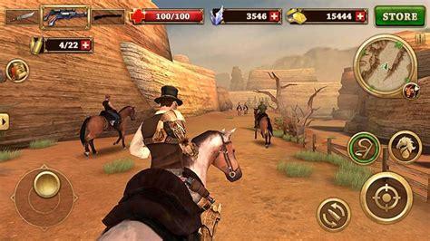 gunfighter west apk mod guns unlimited money cowboy unlocked android v1