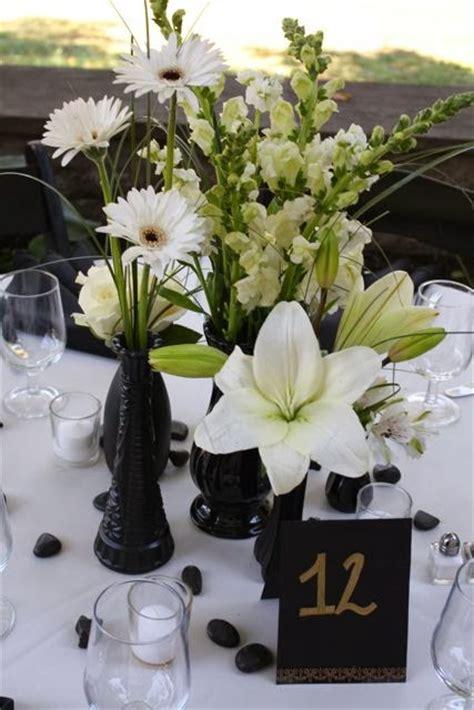 black and white wedding centerpieces wedding stuff ideas