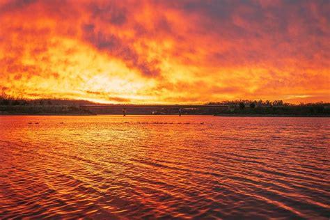 beautiful sunrise kicks wintry week washington