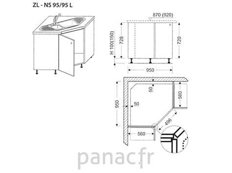 meuble bas angle cuisine leroy merlin meuble d 39 angle sous évier zl ns 95 95 l