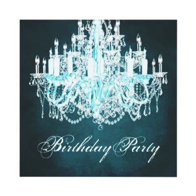 vintage chandelier womans 40th birthday personalized announcements from http www zazzle