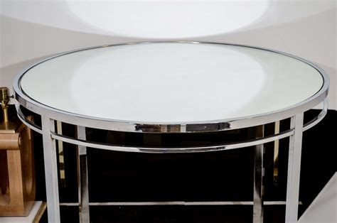 mid century chrome and mirrored glass dining table at 1stdibs