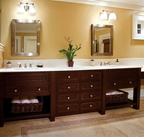ideas for bathroom vanities and cabinets wooden custom bathroom vanity cabinets white granite top