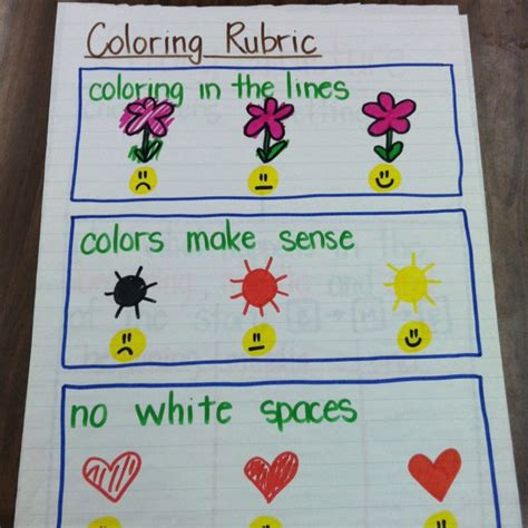Coloring Rubric by Coloring Rubric School Misc