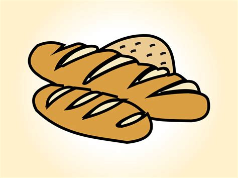 cartoon rolls cartoon bread loaf clipart best