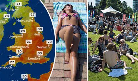 Uk Heatwave 2017 Latest As Weather