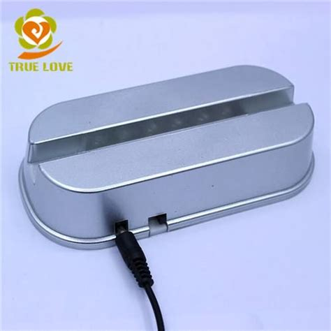 l with lighted base square led light base with two holes 6 lights tl 0472