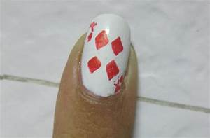The Playing Cards Nail Art - Stylebees.com