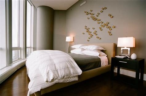 Gold And Gray Bedroom With Gold Art-contemporary-bedroom