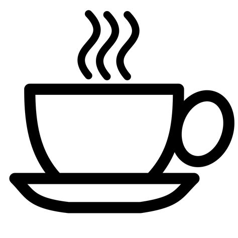 pitr Coffee cup icon black white line art Scalable     ClipArt Best   ClipArt Best