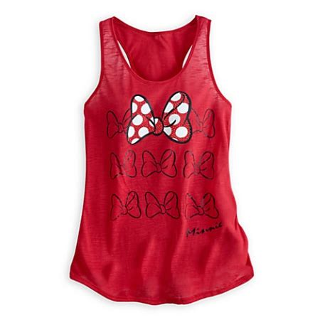 disney shirt  women minnie mouse bow tank top red