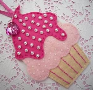 Felt Cupcake Decoration Heart 2 Homeheart Home Cute Felt