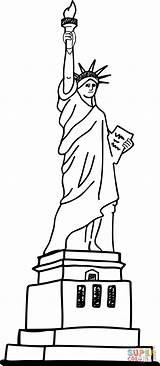 Statue Liberty Estatua Coloring Libertad Para Colorear Pages Printable Dibujos York Drawing Dibujo Supercoloring Hanklee Statues Books sketch template