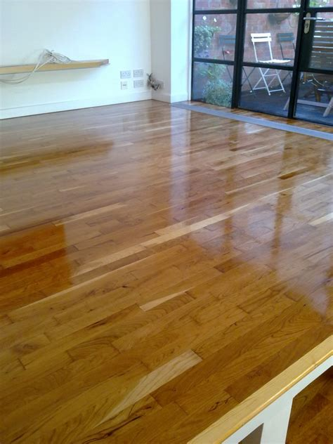 parquet flooring canada canadian cherry floors sanded and oiled in chiswick