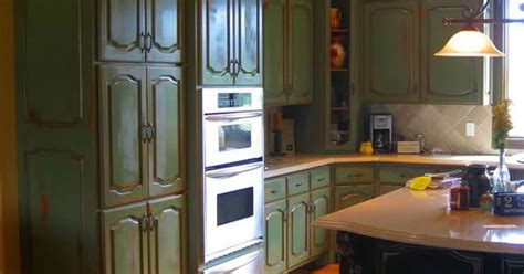 distressed green kitchen cabinets distressed painted kitchen cabinets 6783